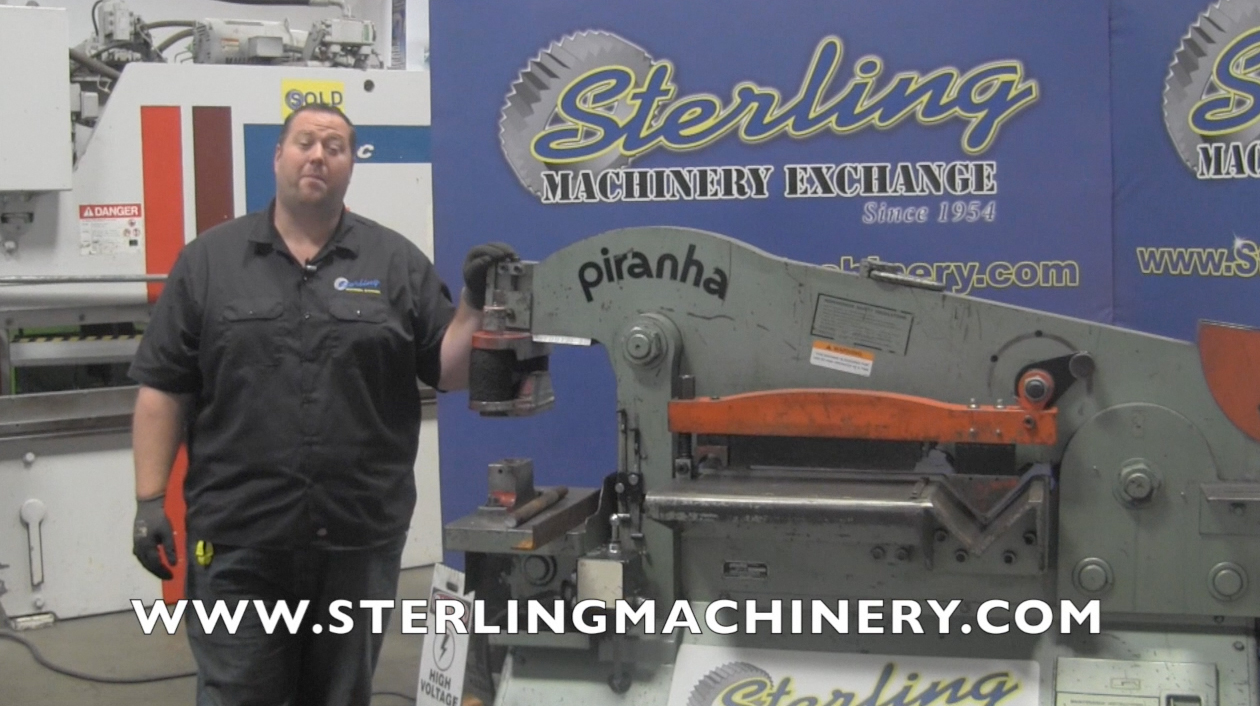 Machinery Videos Of Dealer Machine Tools Showing Used Lathe Milling Elec Wiring Diagram For Mubea Ironworker 70 Ton Piranha Hydraulic Multi Station Mdl P Foot Pedal Joy Stick Control Shear Manual Back Gauge Oversized Punch Attachment