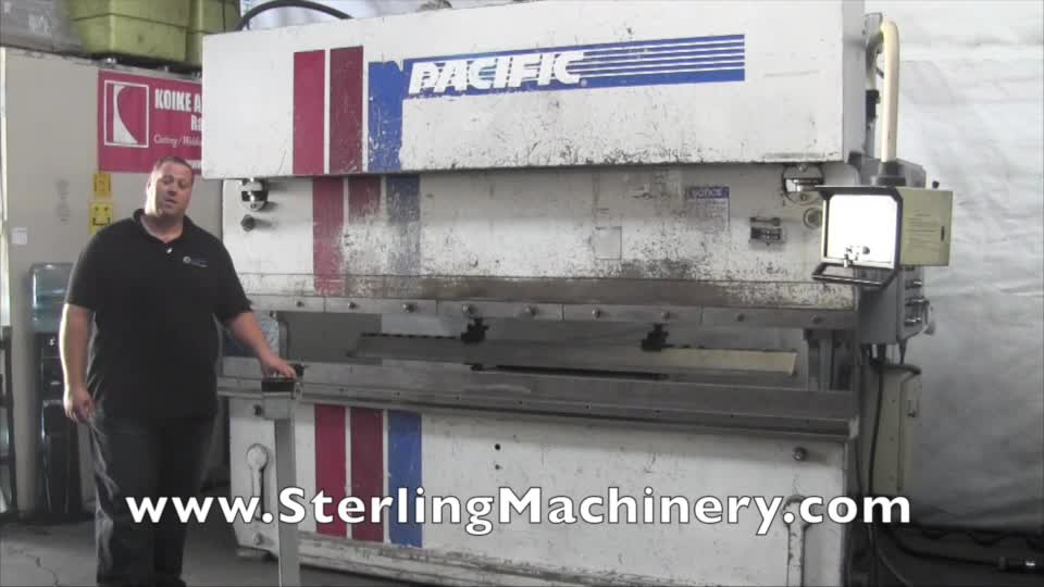 machinery videos of dealer machine tools showing used lathe milling rh machinerytube com pacific press brake parts pacific hydraulic press brake manual