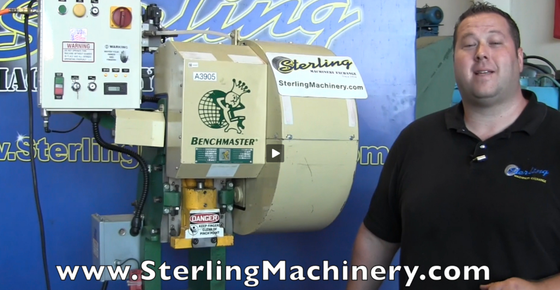 Machinery Videos Of Dealer Machine Tools Showing Used Lathe Milling M60 Mcb Circuit Breaker Mini China 15 Ton X 2 Benchmaster Obi Punch Press Late Model Like New Mdl 251a Dual Palm Buttons Emergency Stop Air Clutch Brake
