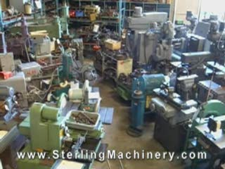 3 Cu. Ft. Used C & M Vibratory Finishing Mill (Tub Type), Mdl. 300, Water Pump, Single Phase #9802 www.SterlingMachinery.com