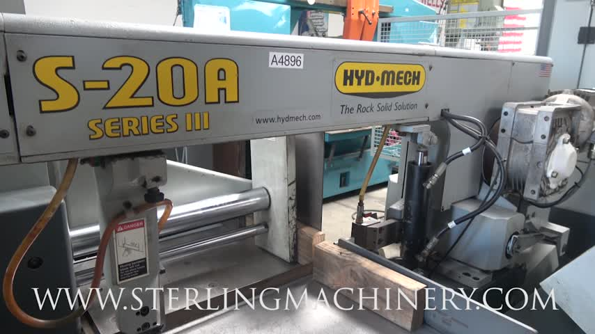 Machinery videos of dealer machine tools showing used lathe 13 x 18 used hydmech automatic horizontal pivot style band saw with bundling attachment for multiple pieces mdl s 20a cast iron shuttle features greentooth Choice Image