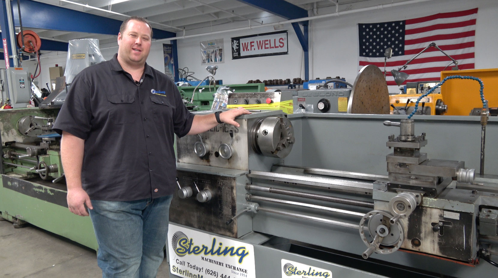 """16""""/22"""" x 60"""" Used Republic-Lagun Gap Bed Engine Lathe, Mdl. 16-S, 10""""- 3  Jaw Chuck, 4 Way Tool Post With Holders, Coolant System, Foot Brake, Live  Center, ..."""